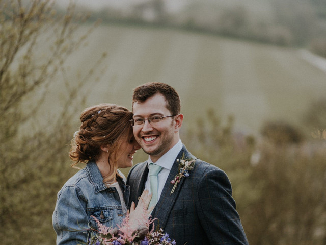 A Boho-Inspired Spring Country Wedding at Upwaltham Barns With a Sincerity Bridal Dress