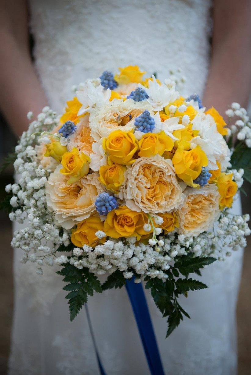 yellow-and-blue-spring-wedding-bouquet