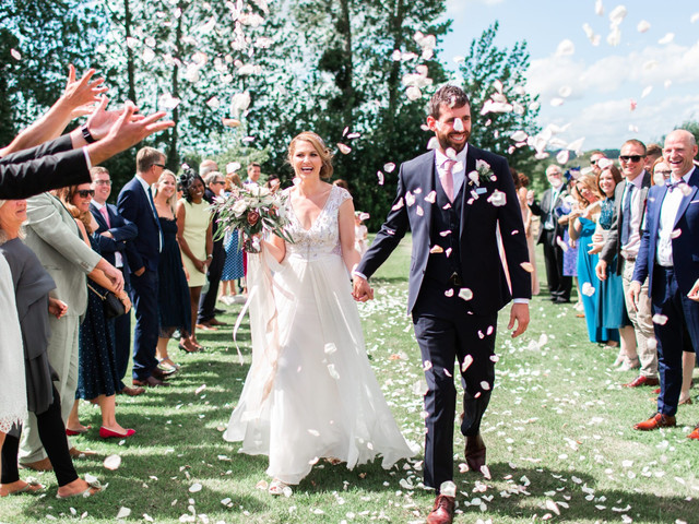 A Pastel-Themed Wedding at Almonry Barn with an Alice Temperley Dress