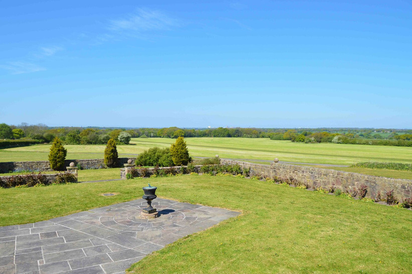 Gardens at Lancashire wedding venue Beeston Manor