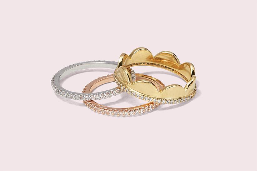 Kate Spade stacking rings