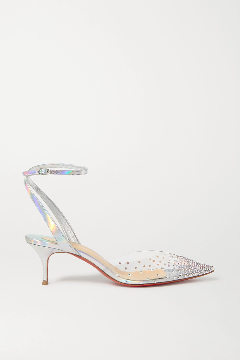 Holographic and sequin bridal heel