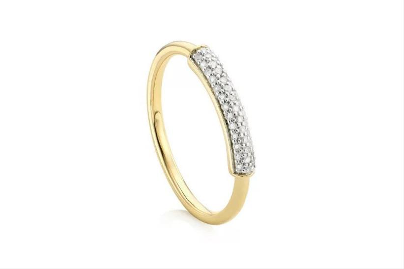 Gold bridal stacking ring
