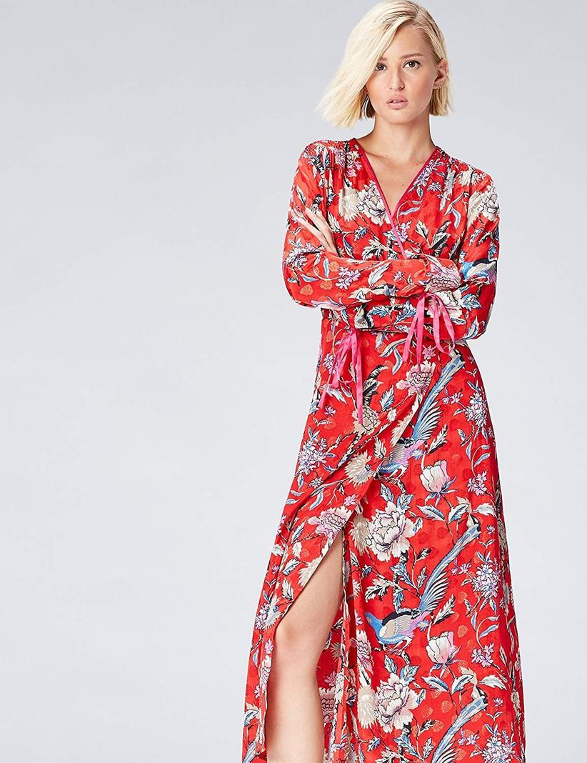find. women's wrap midi dress