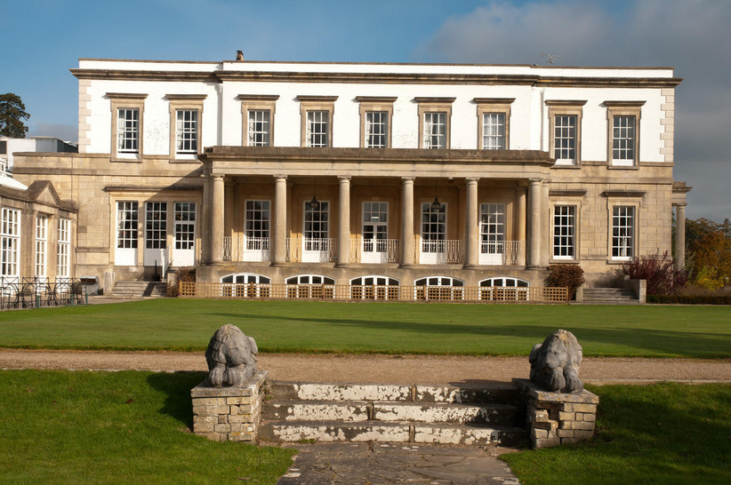 Exterior of outdoor wedding venue Buxted Park