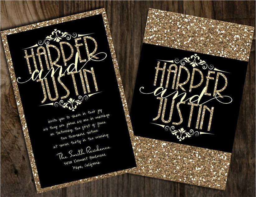 joy-black-and-gold-glitter-invites