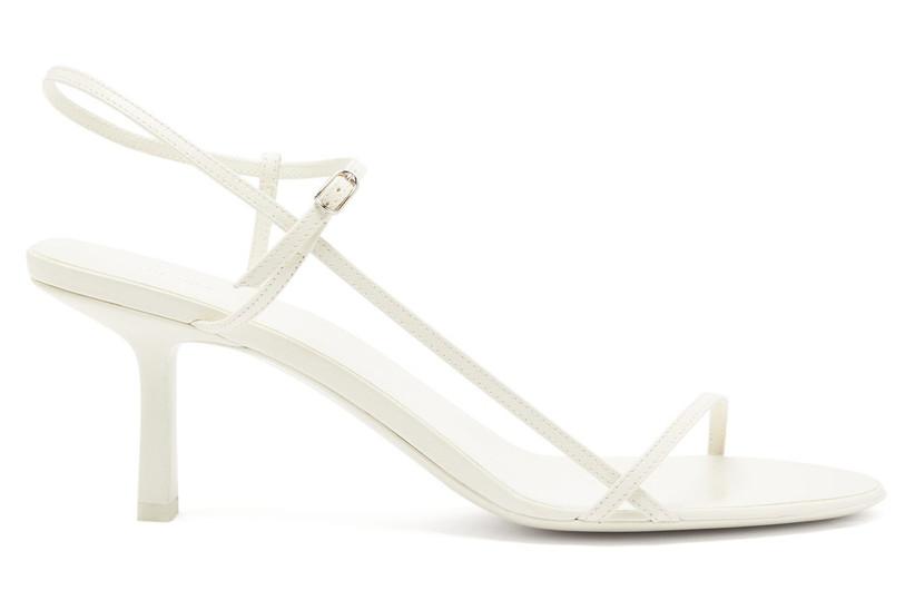 Simple white bridal heel