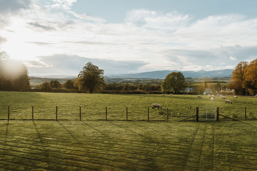 The view over fields from Killearn Village Hall