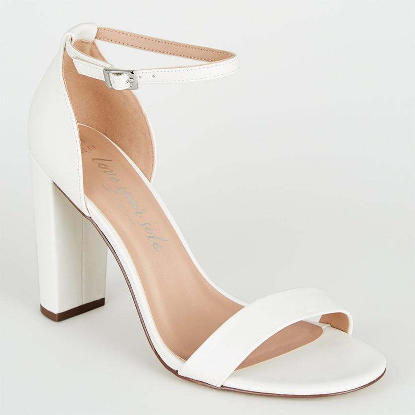 ivory block heel shoes uk