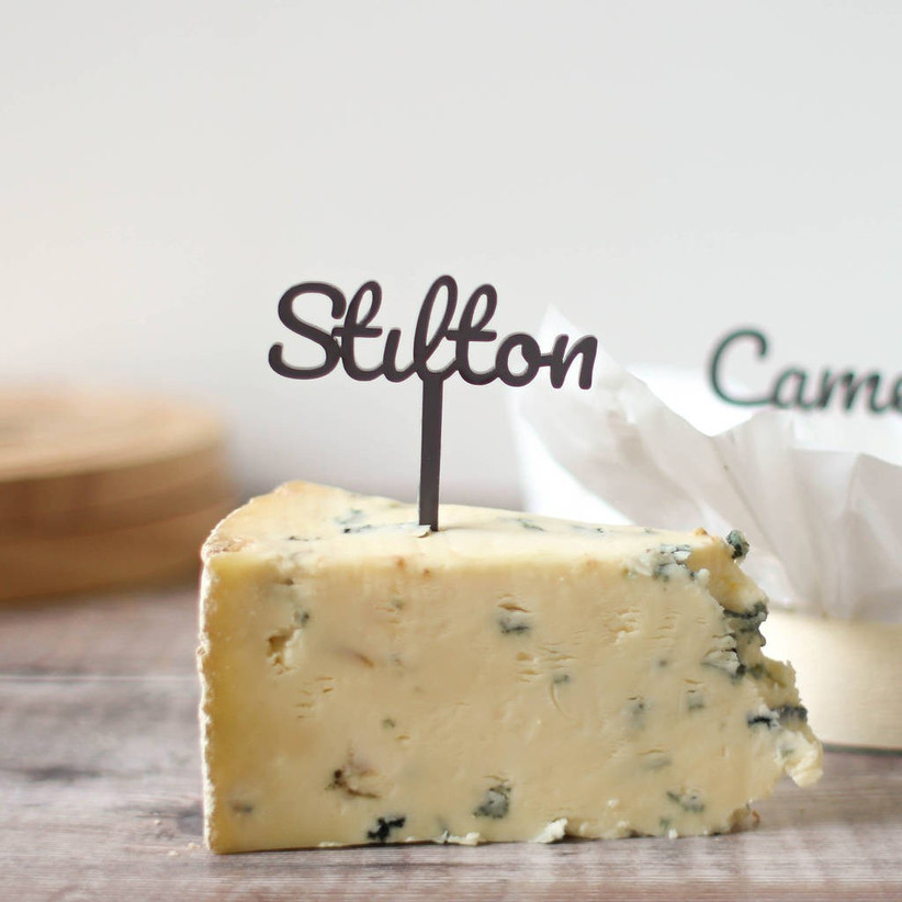 Cheese wedding table names