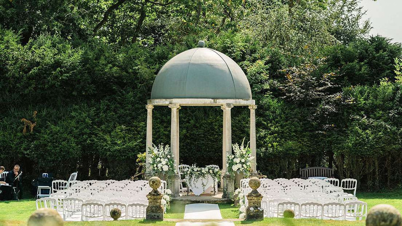 Doric Temple at outdoor wedding venue Rhinefield House