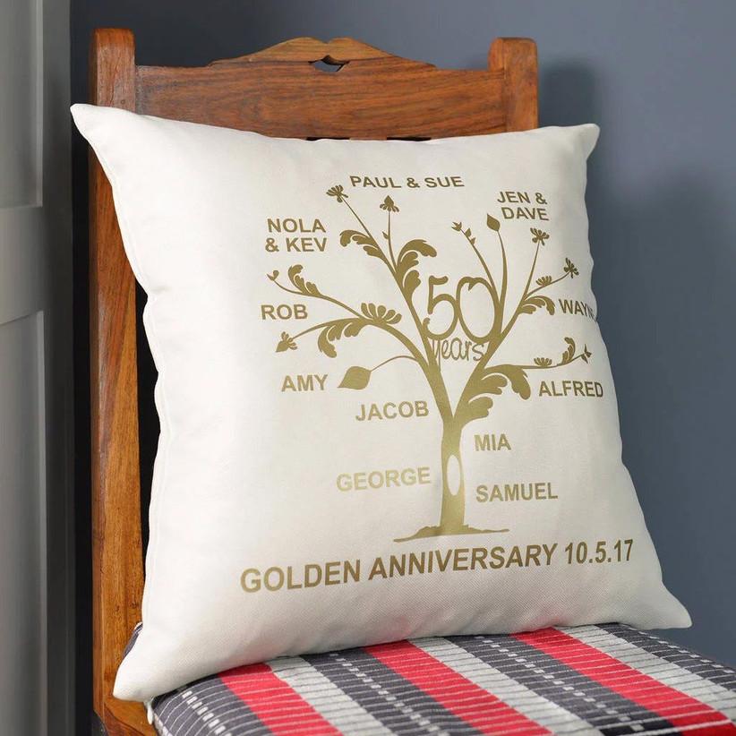 50th anniversary cushion