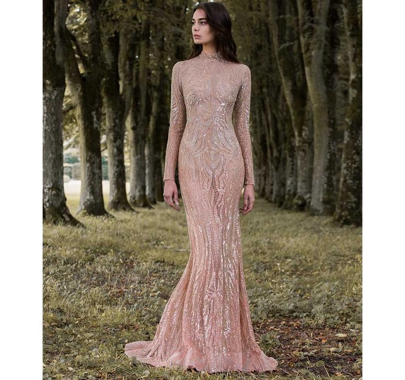gold-sexy-wedding-dress