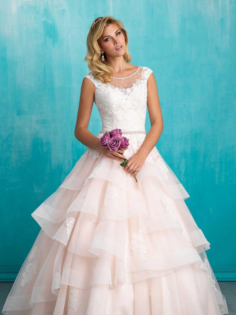 tiered-wedding-dress-suitable-for-a-church-wedding