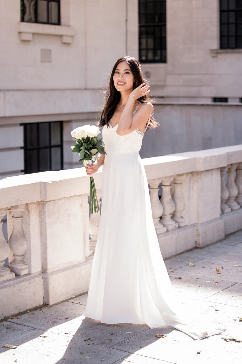 Bride on a London street
