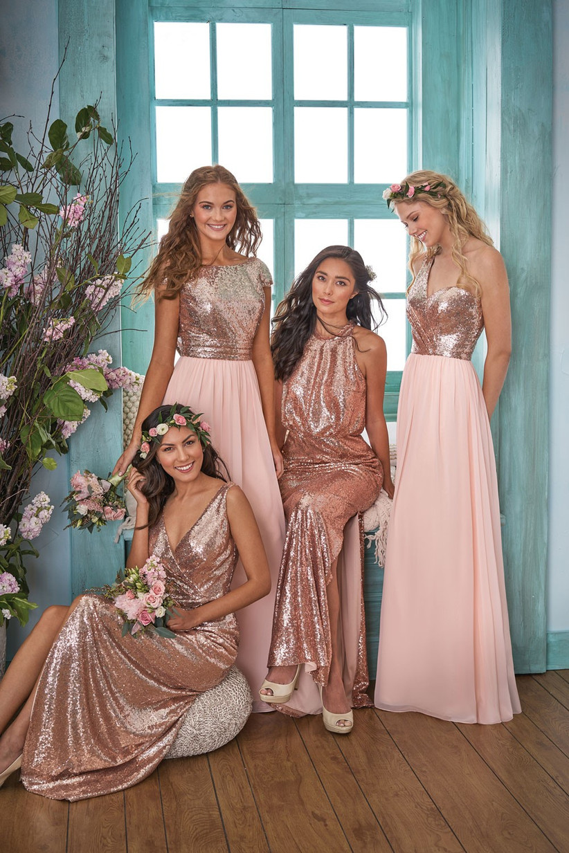 rose-gold-bridesmaids-dress