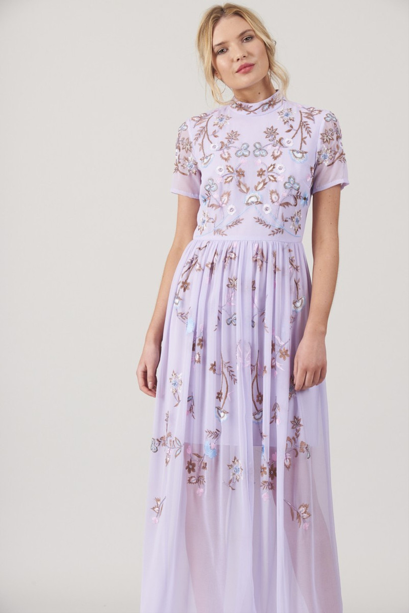 Frock & Frill - embellished lilac maxi