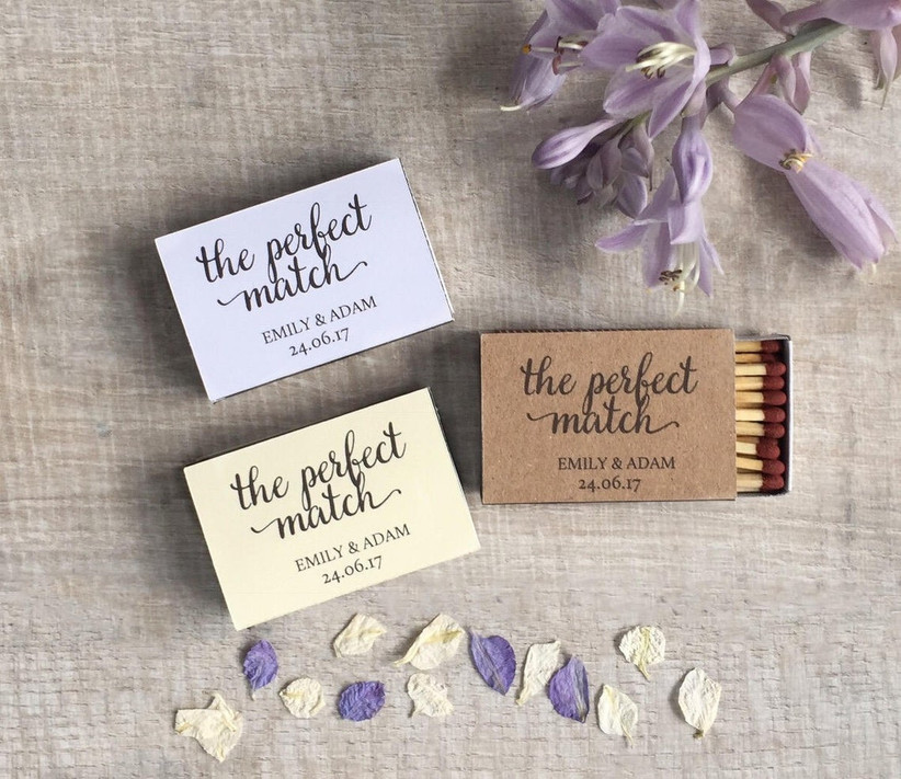 The perfect match personalised match boxes