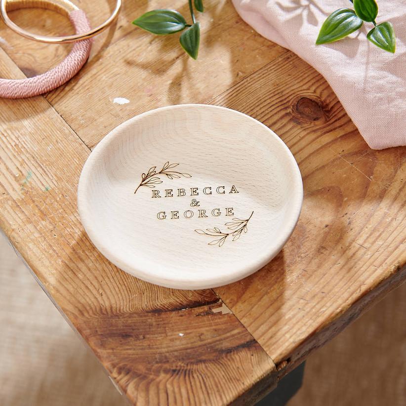 Ring Dish Rustic Ring Dish Wood Ring Dish Ring Holder