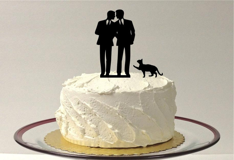 black-silhouette-same-sex-wedding-cake-topper