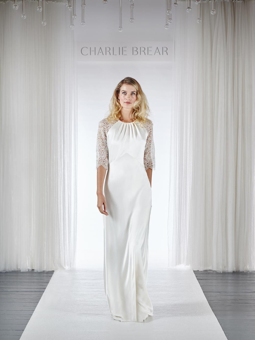 simple-white-wedding-dress-with-lace-sleeves-and-a-lace-back