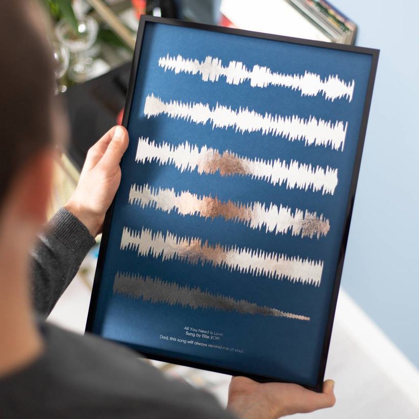Sound wave print gift