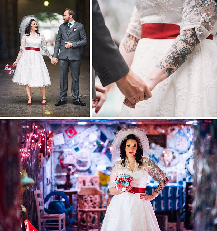red-and-white-dress-tattoo-bride-2