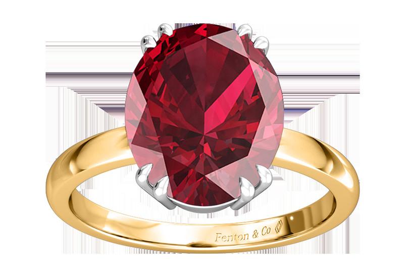 Fenton ruby engagement ring