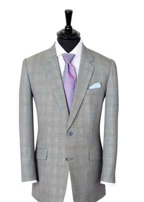 Grey Check & Pink Suit, King & Allen