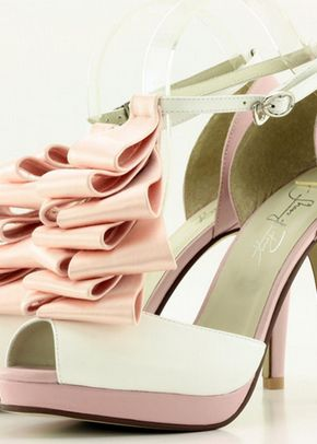 Italian Silk White & Pink Soft Leather & Ruffle, Shoes of Prey