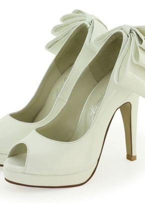 White Leather & Ruffle Heels, Shoes of Prey