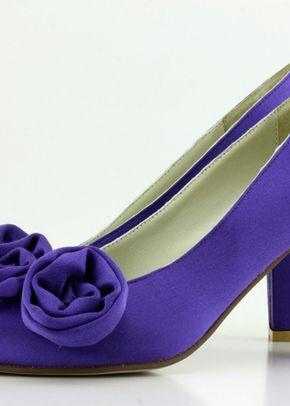Purple Italian Silk & Small Flowers, Shoes of Prey