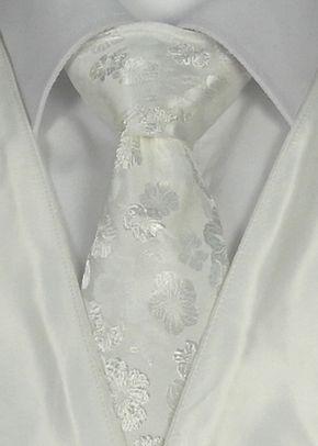 White Floral Tie, STEPHEN BISHOP