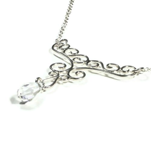 Flilgree & Crystal Necklace, Totally Cherished