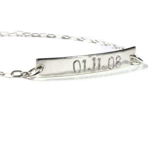 Personalised Date Bracelet, Totally Cherished