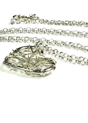 Mesh Heart Necklace, Totally Cherished