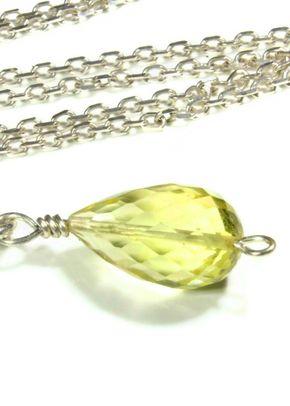 Lemon Quarts Necklace, Totally Cherished