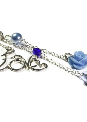 Blue Bouquet Charm, Totally Cherished