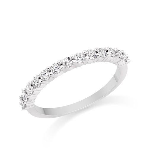 Diamond Wedding Ring in 18k White Gold, Diamond Manufacturers