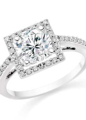 Round Cut 0.82 Carat Halo Engagement Ring with Side Stones 18k White Gold, Diamond Manufacturers