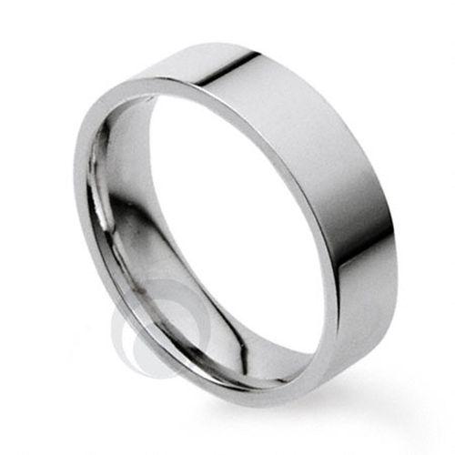 Plain Flat Court Platinum Wedding Ring 2, The Platinum Ring Company