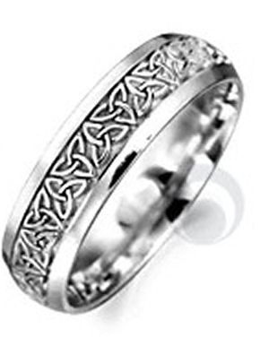 Celtic Patterned Platinum Wedding Ring, The Platinum Ring Company