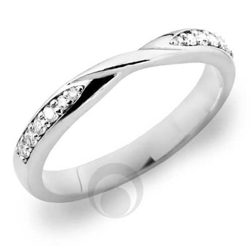 Diamond Platinum Wedding Ring for Solitaire Engagement Ring, The Platinum Ring Company