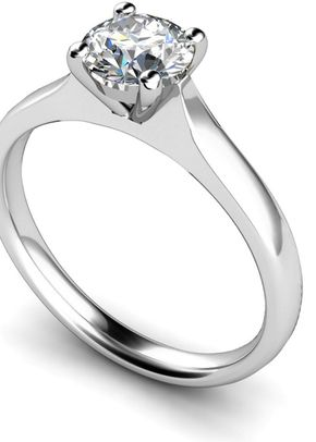 Round Stone Platinum Engagement Rings, Je t'aime