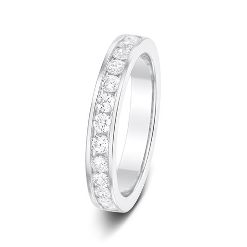 3.2 0.50ct Channel Set Half Eternity Diamond Wedding Ring, Aurus
