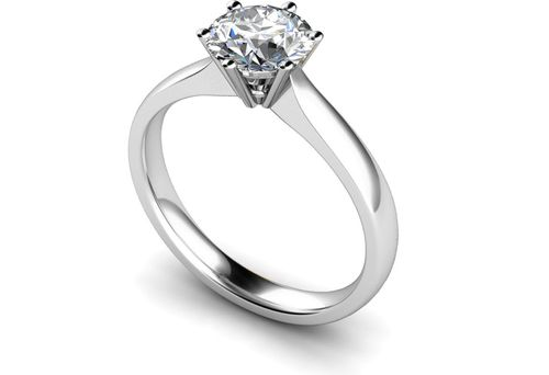 Round Stone Diamond Engagement Rings, Je t'aime