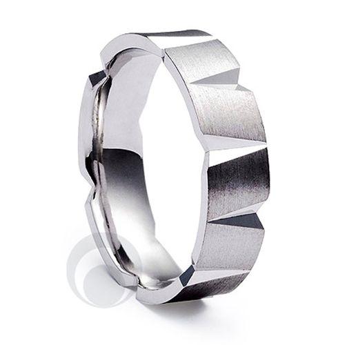 Modern Patterened Platinum Wedding Ring, The Platinum Ring Company