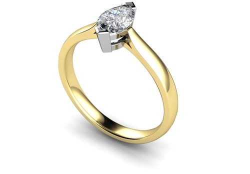 Marquise Diamond Engagement Ring, Je t'aime