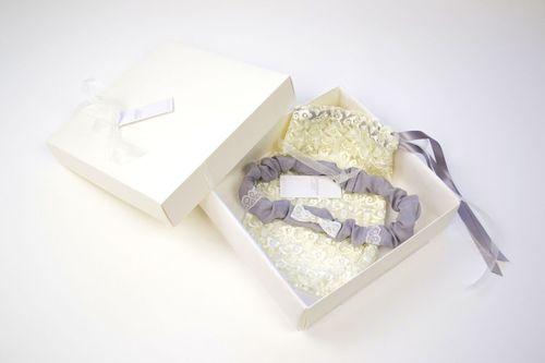 Edmee Garter - Grey, Britten Bridal Garters