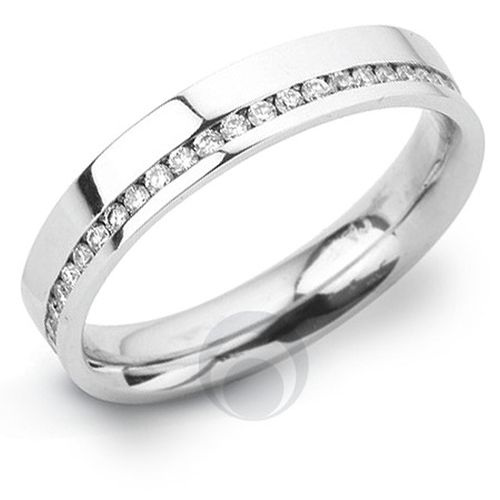 Channel Diamond Platinum Wedding Ring, The Platinum Ring Company